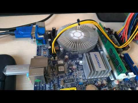 Обновление биоса материнской платы Foxconn G41MX 2 под Xeon и сборка БОМЖ пк для игр