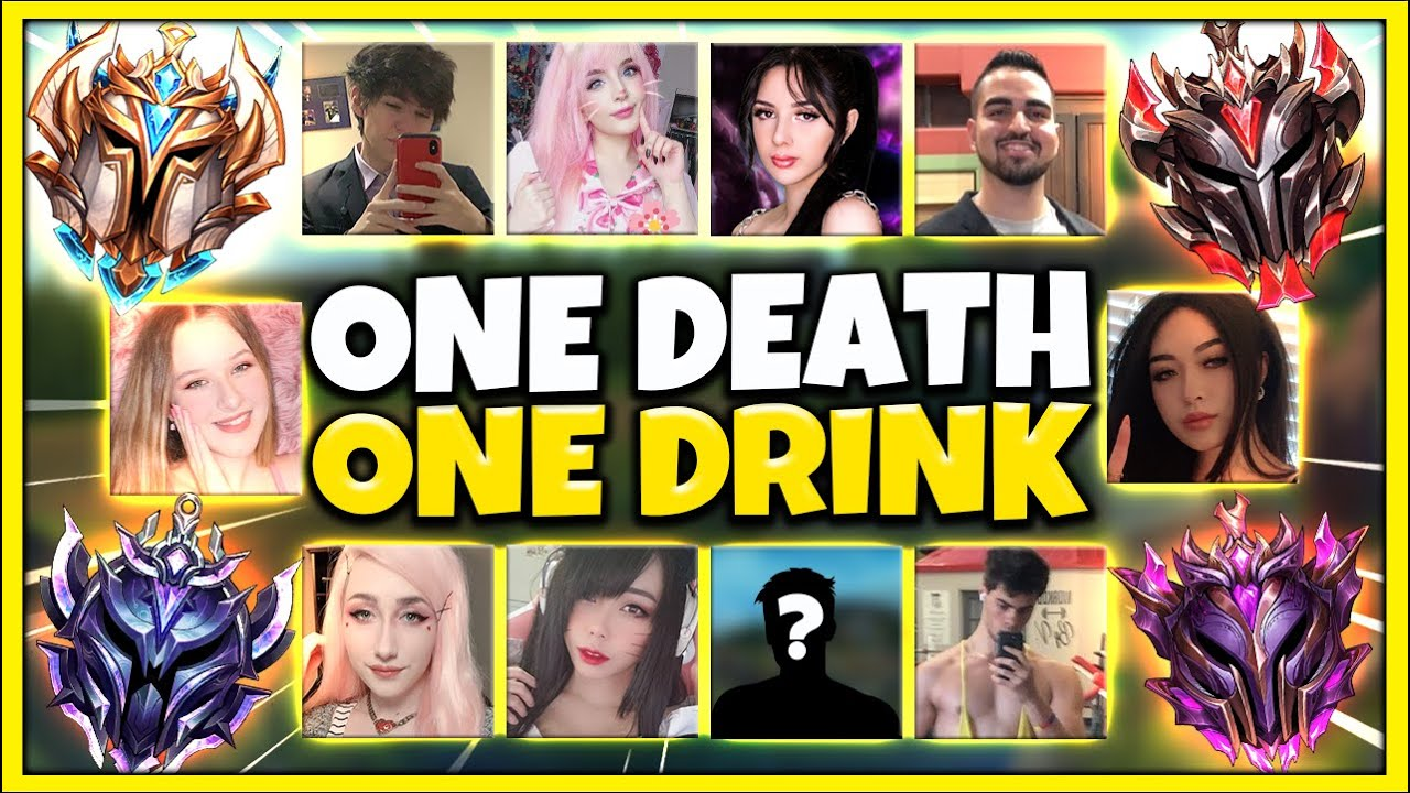 *1 DEATH = 1 DRINK* DRUNK LEAGUE E-GIRL SQUAD 5V5 CHALLENGE (ABSOLUTE INSANITY) - League of Legends