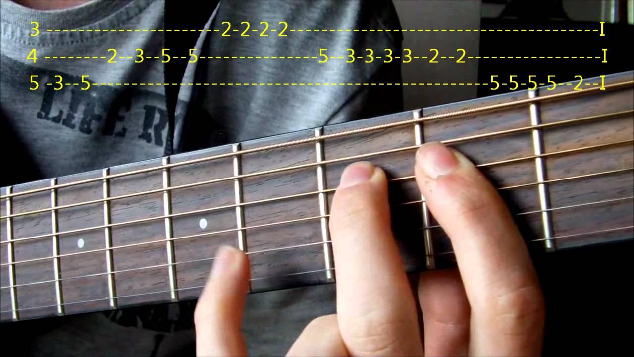 Lær å Spille Lisa Gikk Til Skolen På Gitar! (HD)
