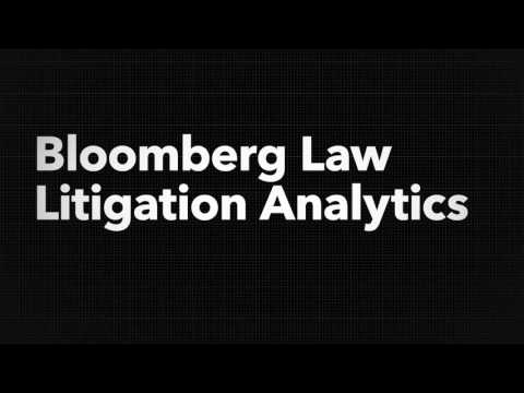 Bloomberg Law Litigation Analytics