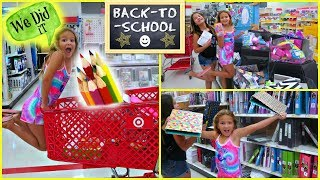 "BACK TO SCHOOL SHOPPING AT TARGET ""EMILY&ALISSON"""