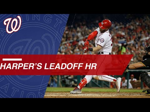 Bryce Harper's first career leadoff homer