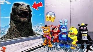 ADVENTURE ANIMATRONICS vs GODZILLA! (GTA 5 Mods For Kids FNAF RedHatter)