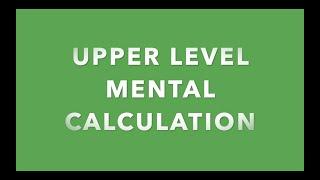 Upper Level Mental Dictation