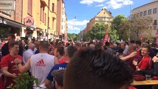 United fans in Stockholm