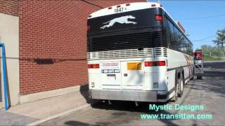 Greyhound Canada Bus #1047 - Morning Prep