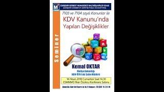 KDV Kanununda Yapılan Değişikliler Eğitim Semineri