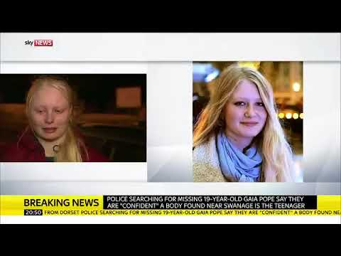 Gaia Pope's sister makes a statement after police announce they