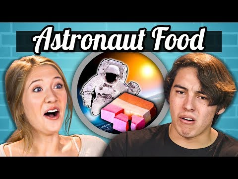 TEENS EAT ASTRONAUT FOOD | Teens Vs. Food