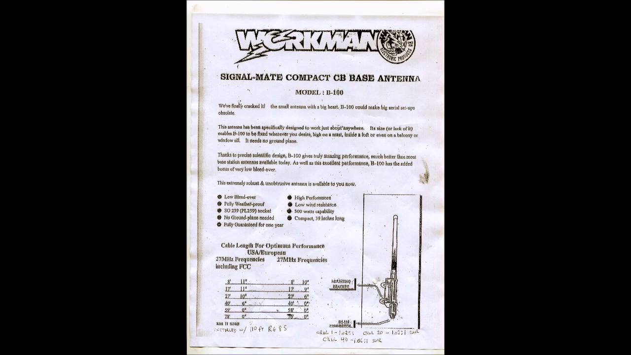 Workman B100 Coax Cable Cutting Chart - YouTube