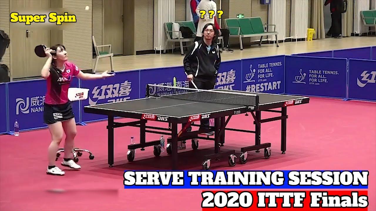 Miyu Kato, Mima Ito, Chen Meng Training In Zheng Zhou | 2020 ITTF Finals