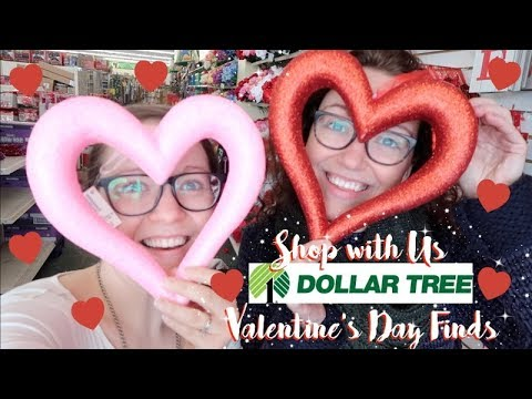 DOLLAR TREE | SHOP WITH US | VALENTINE'S DAY FINDS | 2018