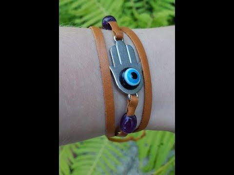 Making Dani's/Ellie's Hamsa Bracelet From
