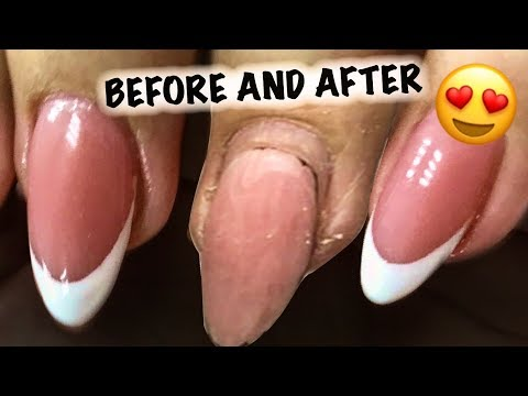 Beautiful Transformation ❤️ How to paint French Manicure On Your Nails DIY NEW NAIL TUTORIAL