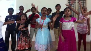 Doe, a deer, a female deer song sung by young story-tellers at Chrompet