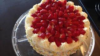 Strawberry Cake Recipe - Persia's Simply Delicious Vanilla Cake