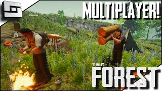 The Forest Multiplayer - BASE BUILD BEGINS! E3 ( Gameplay )
