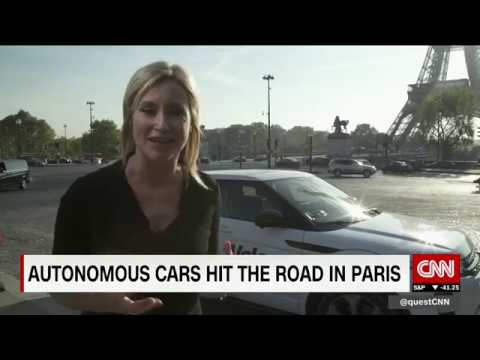 Autonomous car hits Paris streets