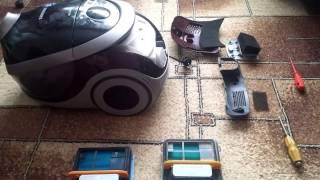Замена и чистка фильтров пылесоса SAMSUNG SD9480