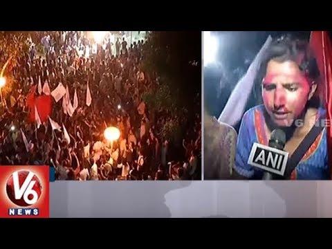 JNU Student Union Elections : Left Alliance Grand Triumph   New Delhi   V6 News