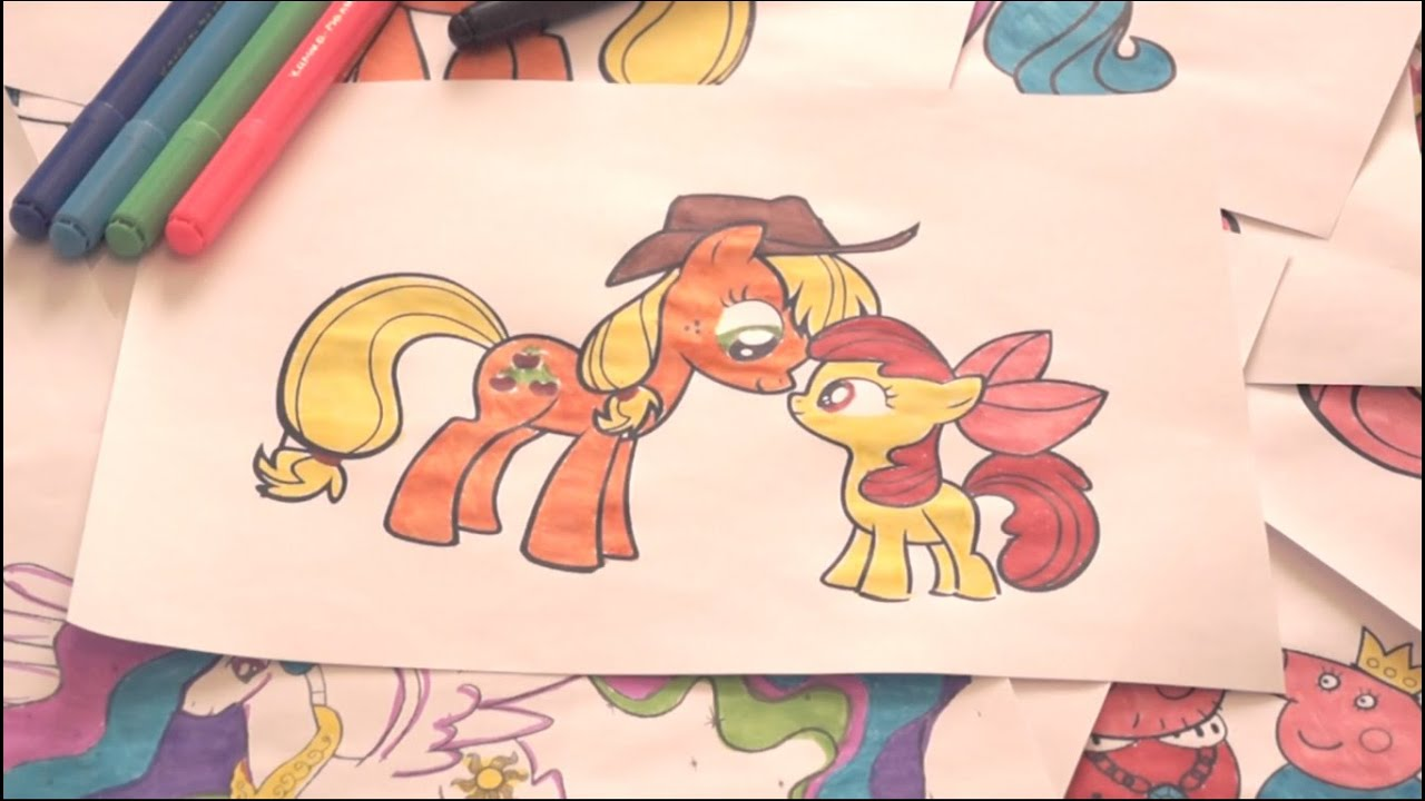 My little pony coloring pages apple bloom - My Little Pony New Coloring Pages For Kids Colors Applejack Apple Bloom