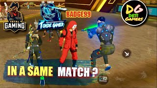 Rank Season 18 Road to Grandmaster First Game Play - ajjubhai , amitbhai & badge99 in same match??