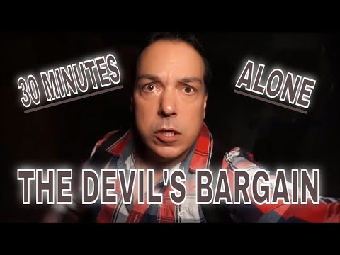 (30 Min ALONE Challenge) 3AM POLTERGEIST ABANDONED RESTAURANT. WE ARE CAUGHT IN THE DEVILS BARGAIN.