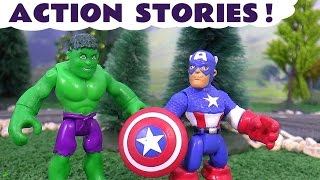 Avengers Action Stories Play Doh Toys Batman Thomas and Friends Spiderman Captain America