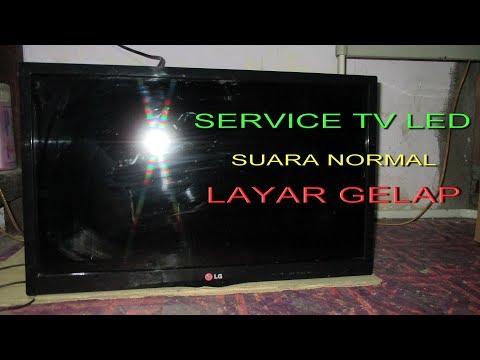 Service Tv LCD Layar Gelap Suara Ada