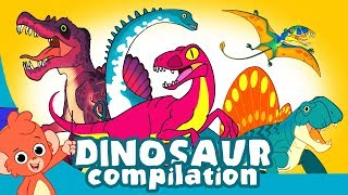 Learn Dinosaurs for Kids | Scary Dinosaur movie Compilation | Tyrannosaurus Velociraptor