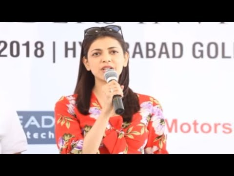 Actress Kajol Agarwal visits Hyderabad Golf Club for Cancer awareness programme