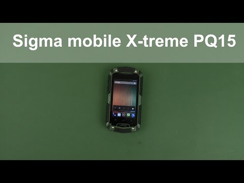 Распаковка Sigma mobile X-treme PQ15 Black