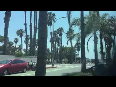 Driving around Santa Monica Beach