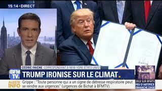 Il fait froid aux USA, Donald Trump se moque du réchauffement climatique - Cédric Faiche BFMTV