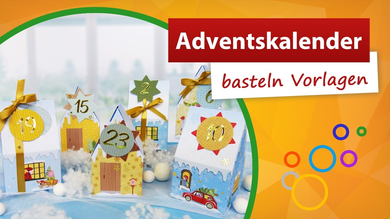 adventskalender zum bef llen adventskalender basteln vorlagen trendmarkt24 youtube. Black Bedroom Furniture Sets. Home Design Ideas