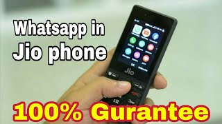 how to install whatsapp in jio phone। ऐसे चलाये jio phone में whatsapp.