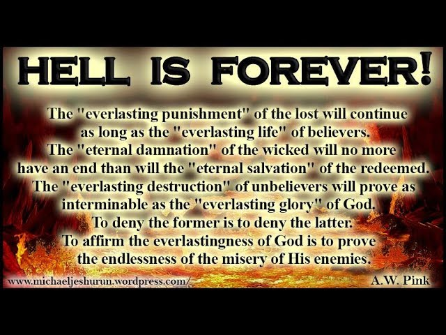 Hell Is Forever Alternate Version - Pastor Charles Lawson (WARNING - VIEWER DISCRETION ADVISED)