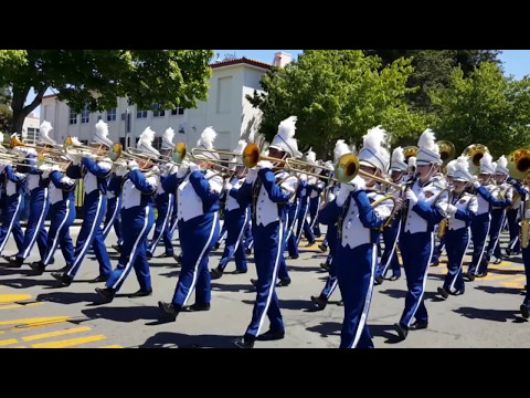 Benicia High School Panther Marching Band at Vallejo Band Review 2017