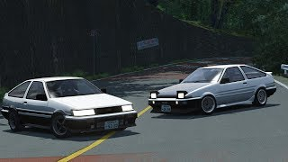 Special Stage Touge Battle on Hakone Nanamagari! AE86 vs AE86! - Assetto Corsa