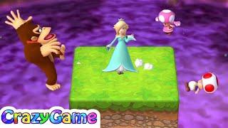 Mario Party 10 Coin Challenge - Toad v Toadette v Rosalina v Donkey Kong 2 Player | CRAZYGAMINGHUB