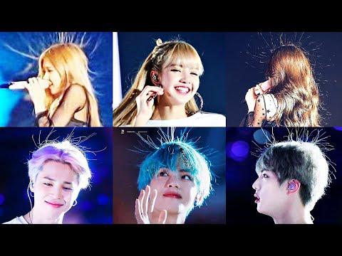BTS × BLACKPINK : BlackBangtan Hair Standing Make Me Laugh 😂