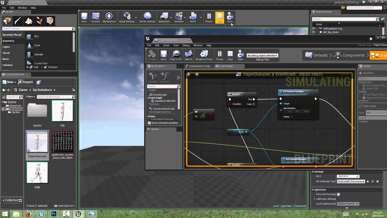 Unreal engine 4 2d game creation with paper2d part 2 input unreal engine 4 2d game creation with paper2d part 2 input blueprint connections youtube malvernweather Choice Image