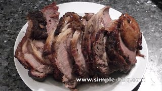 Bbq Rib Roast Of Beef With A Hot Pepper And Mustard Rub