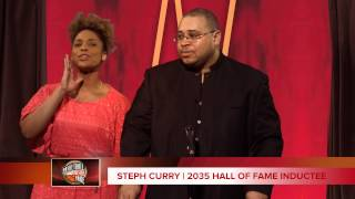 Steph Curry Basketball Hall of Fame Speech with daughter Riley