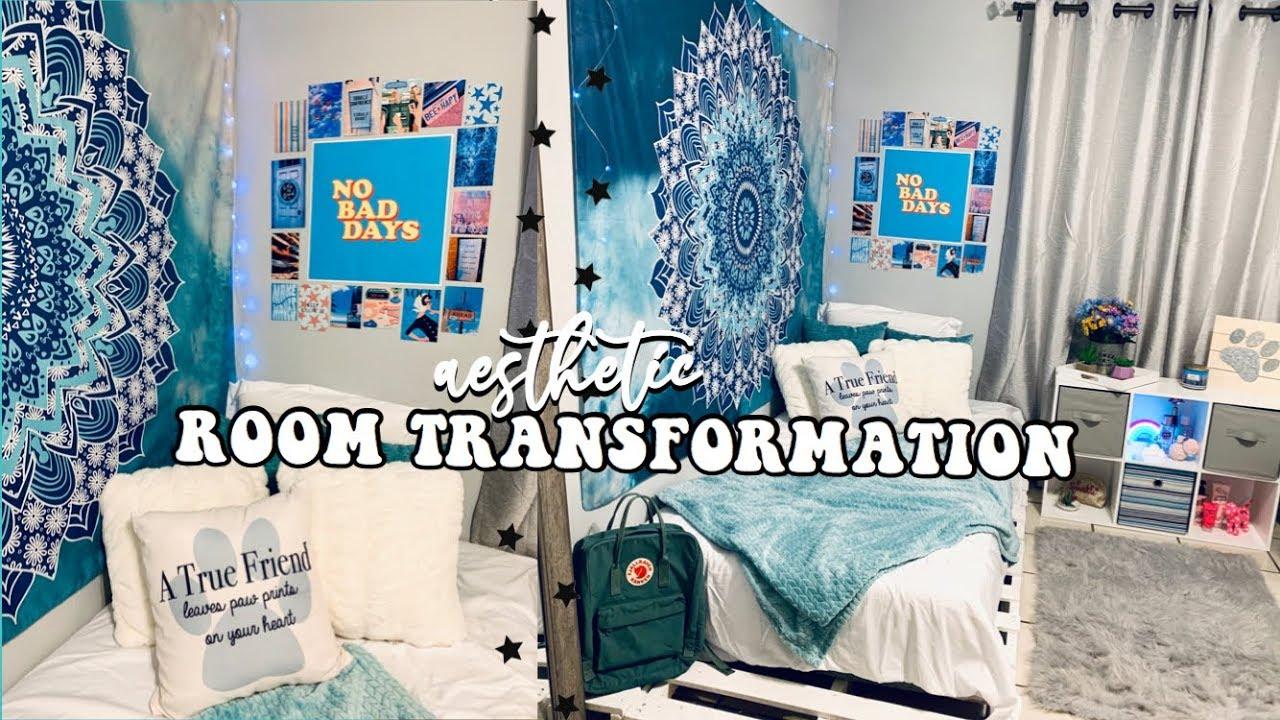 Aesthetic Room Transformation Vsco Inspired Room Decor Paola Espinoza Ft Tapestry Girls Youtube