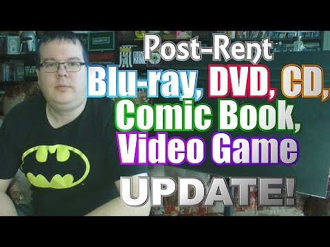 Post-Rent Blu-ray, DVD, CD, Comic Book, Video Game Update!