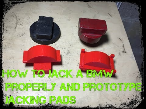 How to Jack up a BMW properly and Prototype Jacking Pads