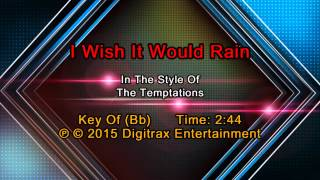 The Temptations - I Wish It Would Rain (Backing Track)