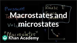 Macrostates And Microstates | Thermodynamics | Physics | Khan Academy