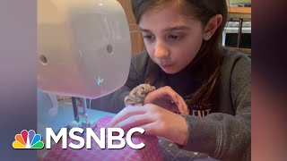 4th Grader Sews Masks For Health Care Workers Battling Pandemic In Boston | The Last Word | MSNBC